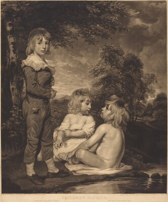Children Bathing (The Hoppner Children)