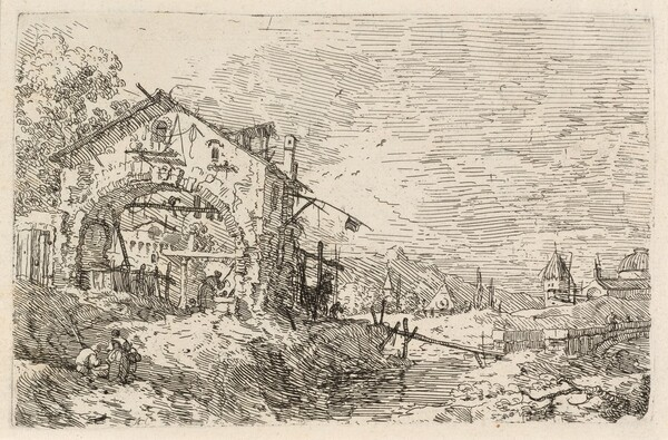 Landscape with a Woman at a Well