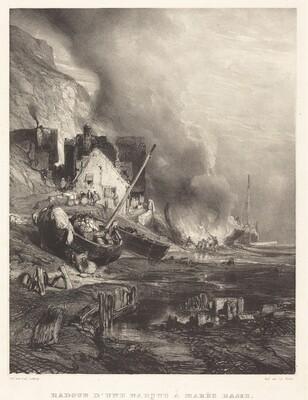 Radoub d'une Barque à la Marée Basse (Refitting of a Ship at Low Tide)