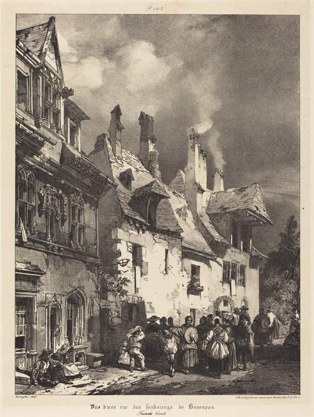 Vue d'une rue des Faubourgs de Besançon (View of a Street in the Outskirts of Besançon)