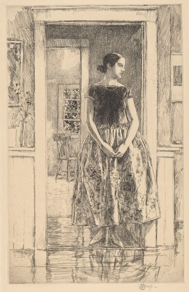 Girl in a Modern Gown