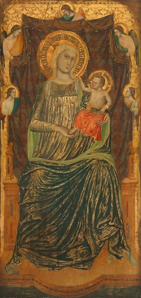 Madonna and Child with Five Angels