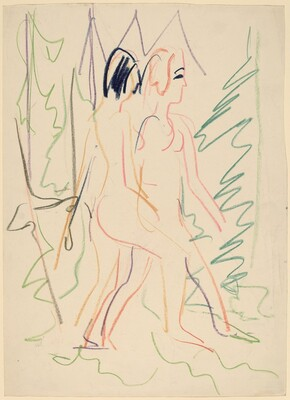 Two Nudes in a Forest