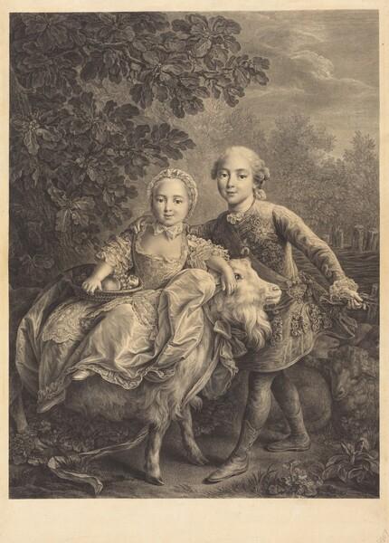 The Comte d'Artois and His Sister Mademoiselle Clotilde