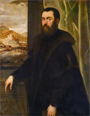 Portrait of a Man with a Landscape View