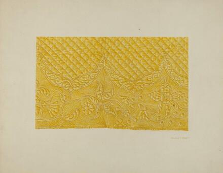 Quilting on Silk (Detail)