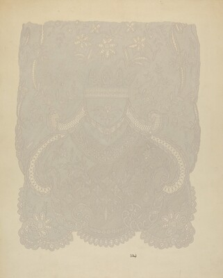 Lace Wedding Veil (Section of)