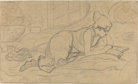 Study for La Liseuse couchée