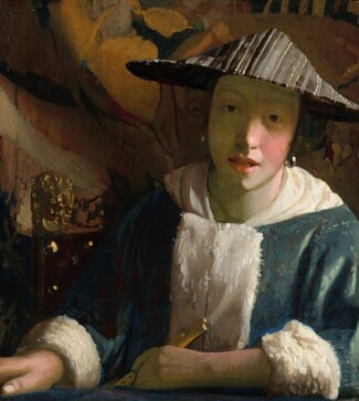 Attributed to Johannes Vermeer, Girl with a Flute, probably 1665/1675