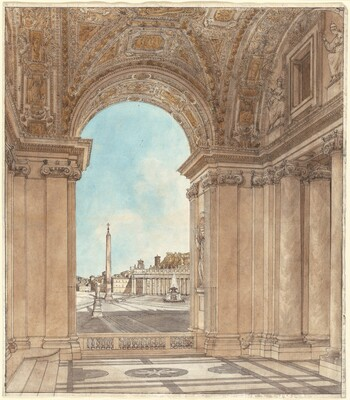 The Piazza of Saint Peter's Seen through an Arch of the Basilica