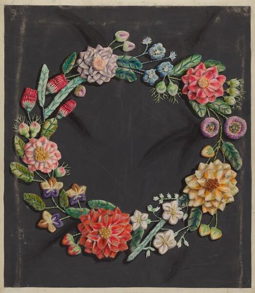 Crewel Work Wreath