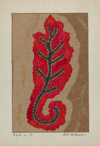 Hooked Rug (Section of Border)