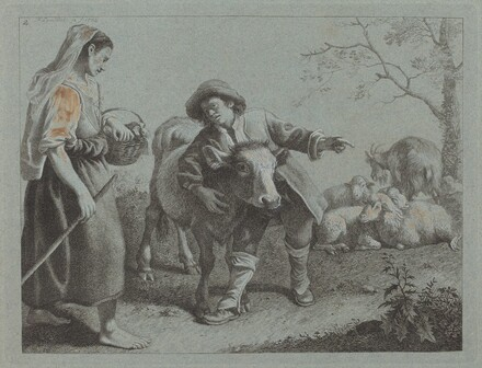 Shepherd Pointing Out the Direction to a Shepherdess