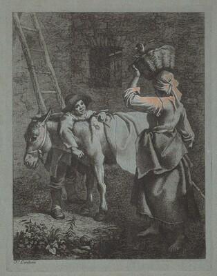 Shepherd Speaking to a Peasant Woman