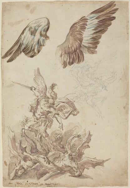 Studies for Saint Michael Defeating the Rebel Angels