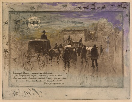 Funeral Procession on the Boulevard de Clichy