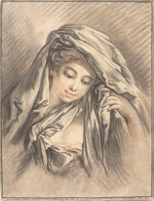 Young Woman with Her Head Covered