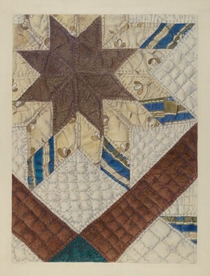 Double Star Patchwork Quilt