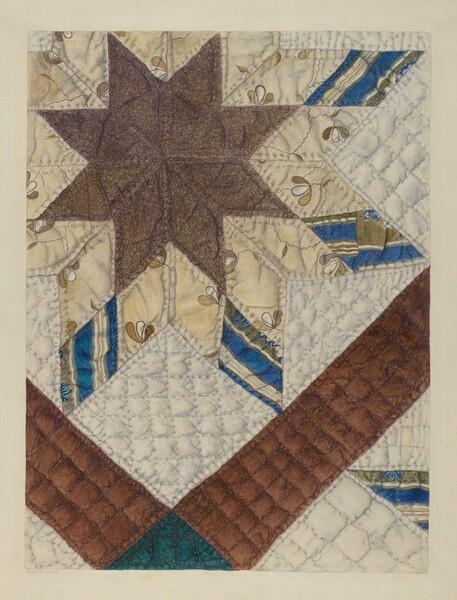 Double Star Patchwork Quilt