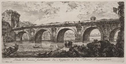 Ponte di Rimino fabbricato da Augusto e da Tiberio imperatore