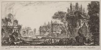 Parte dell'antica Via Appia fuori de Porta S. Sebastiano