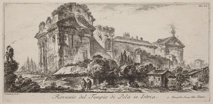 Rovescio del Tempio di Pola in Istria