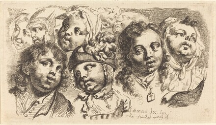 Nine Children's Heads