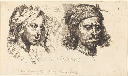 Young Woman, Old Woman, and Man with Long Hair