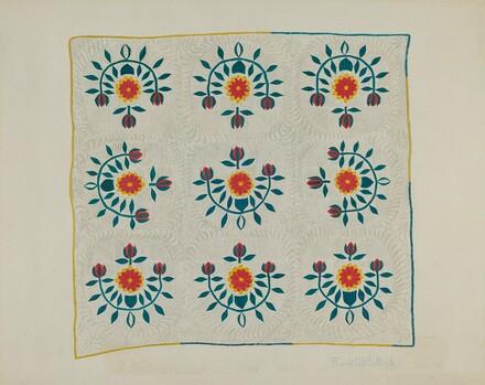 Cotton Quilt - Tulip Design