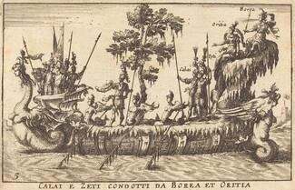 Calai e Zeti condotti da Borea et Oritia