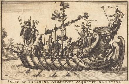 Peleo et Talamone Argonauti condotti da Tetide