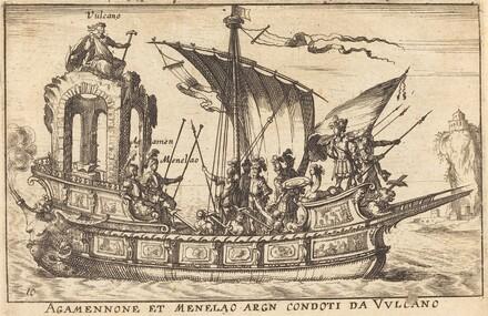 Agamennone et Menelao argn condoti da Vulcano