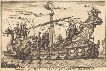 Idinone ea Mopso Argonoti guidati da Apollo