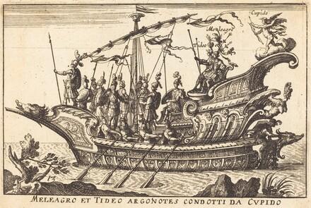 Meleagro et Tideo Argonotes condotti da Cupido