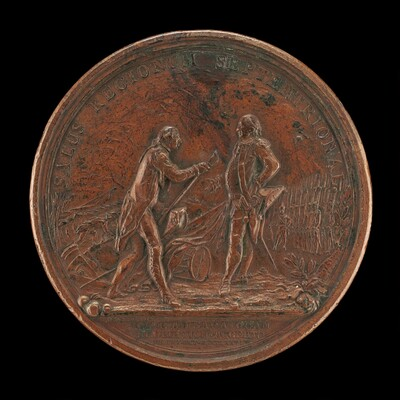 General Burgoyne Surrenders His Sword to General Gates at Saratoga [reverse]