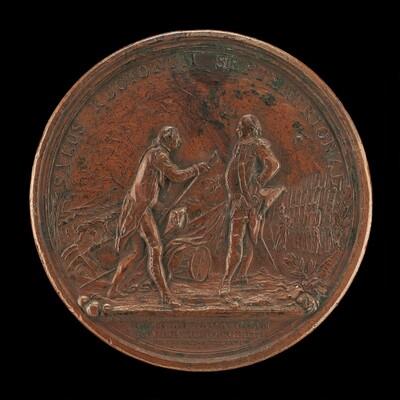 General Burgoyne Surrenders His Sword to General Gates at Saratoga [reverse]