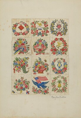 Applique Quilt (Friendship Quilt, or Baltimo re Bride's Quilt)