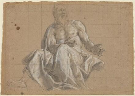 An Elderly Man in Classical Drapery