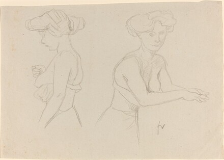 Two Studies of a Woman Dressing