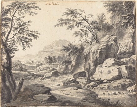 Classical Landscape with a Waterfall