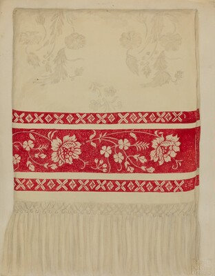 Linen Towel - Flower Design