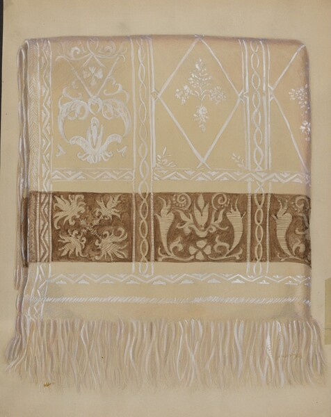 Linen Towel - Brown Border