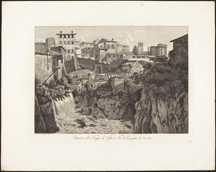 Situatione del Tempio di Vesta a Tivoli, dirimpetto la Cascata