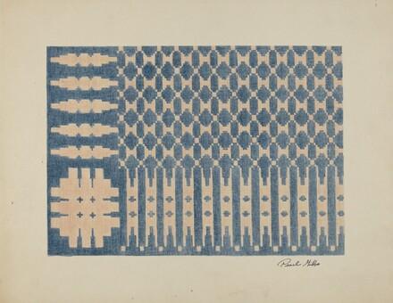 Old Colonial Handwoven Bedspread