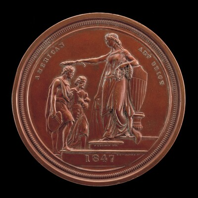 Fame Crowning Painting and Sculpture [reverse]