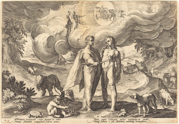 Prometheus Making Man and Animating Him with Fire from Heaven