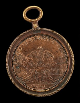 Eagle Astride Two Cannons (The Artillery) [reverse]