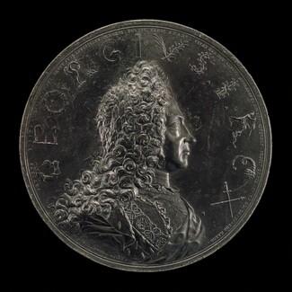 Coronation of George I, 1660-1727, King of England 1714 [obverse]