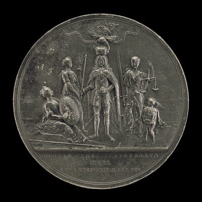 The King Being Crowned between Peace and Justice [reverse]
