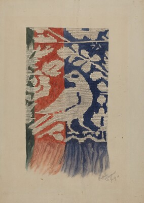 Jacquard Coverlet (Detail)